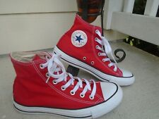 Authentic Converse All Star / Hi Top /  RED  size 8 women