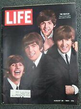 The Beatles - Rock - Pop Music - August 28, 1964 LIFE Magazine