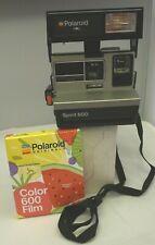 Polaroid 600 Instant Film Camera Silver Spirit 600 +FRESH NEW FILM   TESTED