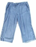 Style & Co Women's Pants Blue Size 22W Plus Stretch Wide Leg Frayed $59 #330