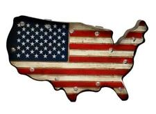 M&F Western Moments Wall Décor Lighted American Flag Red White Blue 94008