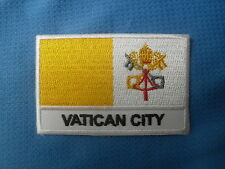 Vatican City Pope Rome Bible Catholic Flag Embroidered  Sow Sew On Patch Badge