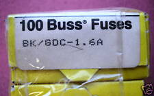 FUSES BK/GDC-1.6A BUSSMAN 250V FUSE 600 PCS