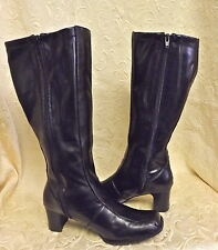 WOMEN/JUNIOR-  Mootsies Tootsies Eclissi BLACK TALL BOOTS/SHOES SZ 6