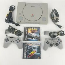 Sony PlayStation 1 One Original Video Game Console Bundle Game 2 Controllers