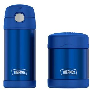 Thermos Funtainer Lunch Set Vacuum Insulated BPA Free Dishwasher Safe - Blue