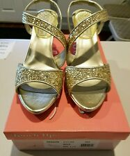 Prom wedding Gold Glitter bling REAGAN Touch Ups sandals shoes 8 Benjamin Walk
