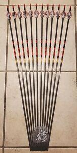 1 dozen (12)Gold Tip Hunter 300 Arrows with Blazer vanes- Will cut