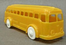 """1950's PLASTICVILLE BUS 5"""" hard plastic O Scale to 027 scale trains r2"""