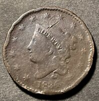 1834 Coronet Head Large Cent 1c LG 8 SM Stars Rare N-3 & Rotated Reverse