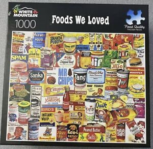 White Mountain 1000 Piece Puzzle Foods We Loved Spam Jif Tang Lipton Campbells