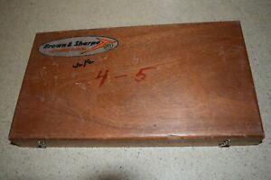 BROWN & SHARPE PRECISION CENTER 100-125 MICROMETER