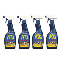 More details for 4x household flea killer spray trigger tick killing home mites cats dogs 500ml