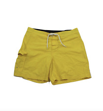 "Brooks Brothers Mens Size 38 Blank 6"" Nylon Hiking Trail Board Shorts Yellow"