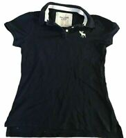 Abercrombie & Fitch Women's Polo T Shirt Blue S/S Small Cotton Blend
