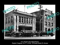 OLD HISTORIC PHOTO OF LOS ANGELES FIRE DEPARTMENT, THE No 17 ENGINE STATION 1930