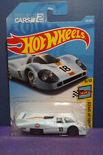2018 Hot Wheels PORSCHE 917 LH - HW LEGENDS OF SPEED 8/10. Long Card.