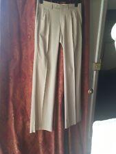 Prada Ladies Beige Summer Weight Wool Tailored Trousers Size 46. Medium New