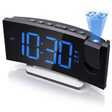 Projektor Radiowecker mit Projektion LED Tischuhr Uhrenradio Funkwecker Snooze