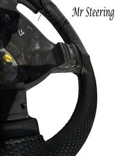 FOR JEEP LIBERTY KJ 2001-2007 BLACK PERFORATED REAL LEATHER STEERING WHEEL COVER