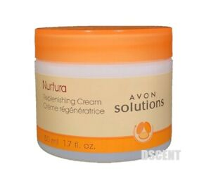 Avon Solutions Nurtura Replenishing Cream Gentle On Sensitive Skin 1.7 FL.  OZ.