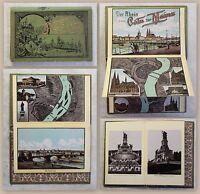 Panorama Rhein Cöln bis Mainz um 1900 Grafik Rheinlauf Leporello illustriert xz