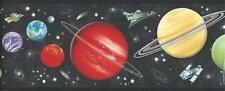 Wallpaper Border Outer Space Solar System Space Shuttle Earth & Planets Galaxy