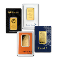 1 oz Gold Bar - Brand Name (Random, In Assay Card) .9999 Fine Gold
