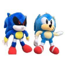 "Sonic The Hedgehog 2PCS 18cm 7"" Exclusive Plush Toys Metal Stuffed Doll Boy Girl"