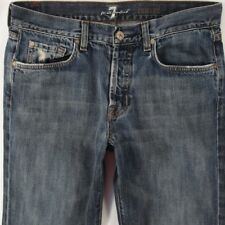 Mens Seven 7 for All Mankind RELAXED Straight Blue Jeans W31 L32