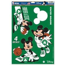 "BOSTON CELTICS 4 PIECE MICKEY MOUSE DECALS 11""X17"" WALL GRAPHICS DISNEY"