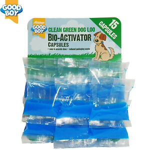 GOODBOY DOG BIO ACTIVATOR CAPSULES CLEAN WASTE TABLETS FOR GREEN DOG LOO