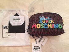 SALE Moschino Couture X Jeremy Scott Super Mario Yoshi Dino CLUTCH MAKE UP BAG