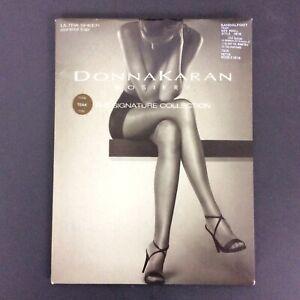 Donna Karan Signature Collection Pantyhose Small Teak Brown Sheer Control Top