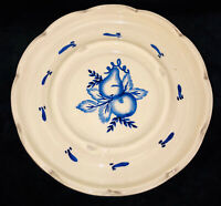 "Pennsbury Pottery 8"" DELFT TOLEWARE BLUE ROUND ASHTRAY"