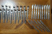 Lifetime Cutlery Stainless LCU71 Scrolls Flatware Forks Knives Lot of 30