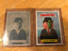 GARBAGE PAIL KIDS BNS2 SON OF MANNY B9A CYAN PRINTING PLATE AND BONUS CARD