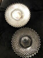 Five Vintage Westmoreland Elegant Glass English Hobnail Plates 8 3/8""