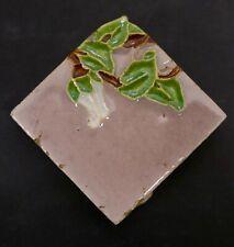 Vintage Malibu California Flower Bud and Leaf Tile Mauve