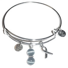Grey - (Brain Cancer), Cancer Awareness Expandable Bangle Bracelet!