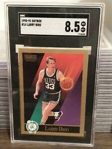 Larry Bird #14 1990-91 Skybox SGC 8.5 NM- Mint+ Boston Celtics Legend HOF