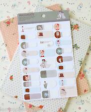 Rabbit Name Stickers cute cartoon Macchiato Rabbit Rest file book planner labels