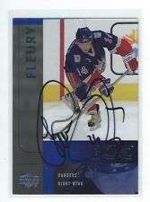 Theo Theoren Fleury Signed 2001/02 Upper Deck Ice Card #107