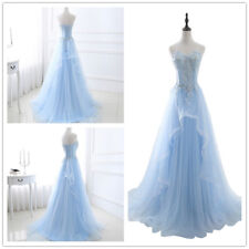 Ladies Lace Tulle Formal Party Dress Bridal Long Prom Masquerade Ball Gowns