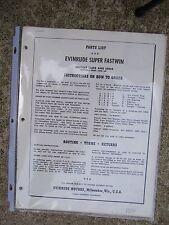 1954 Evinrude Super Fastwin 15012 15013 Outboard Parts List Motors 19001 +    L