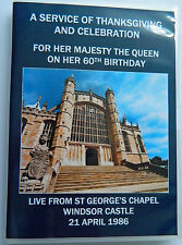 HM THE QUEEN 60TH BIRTHDAY SERVICE OF THANKSGIVING, ST GEORGE'S CHAPEL DVD