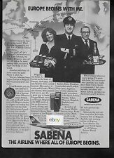 SABENA BELGIAN WORLD AIRLINES 1978 EUROPE BEGINS WITH ME BRUSSELS HUB 747 AD