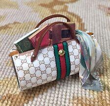 Pat Tyler Dollhouse Miniature Designer Purse Hand Bag Valise Pocketbook p712