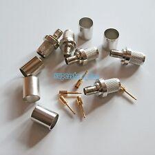 1Pcs SMA female jack crimp for RG8 LMR400 RG213 RG214 RG165 Cable RF connector