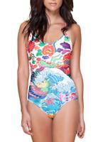 Hale Bob Womens Multicolor Rochelle One Piece Swimsuit Sz S 6602
